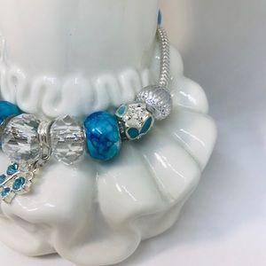 Other - New Girls Euro Bracelet Blue Butterfly